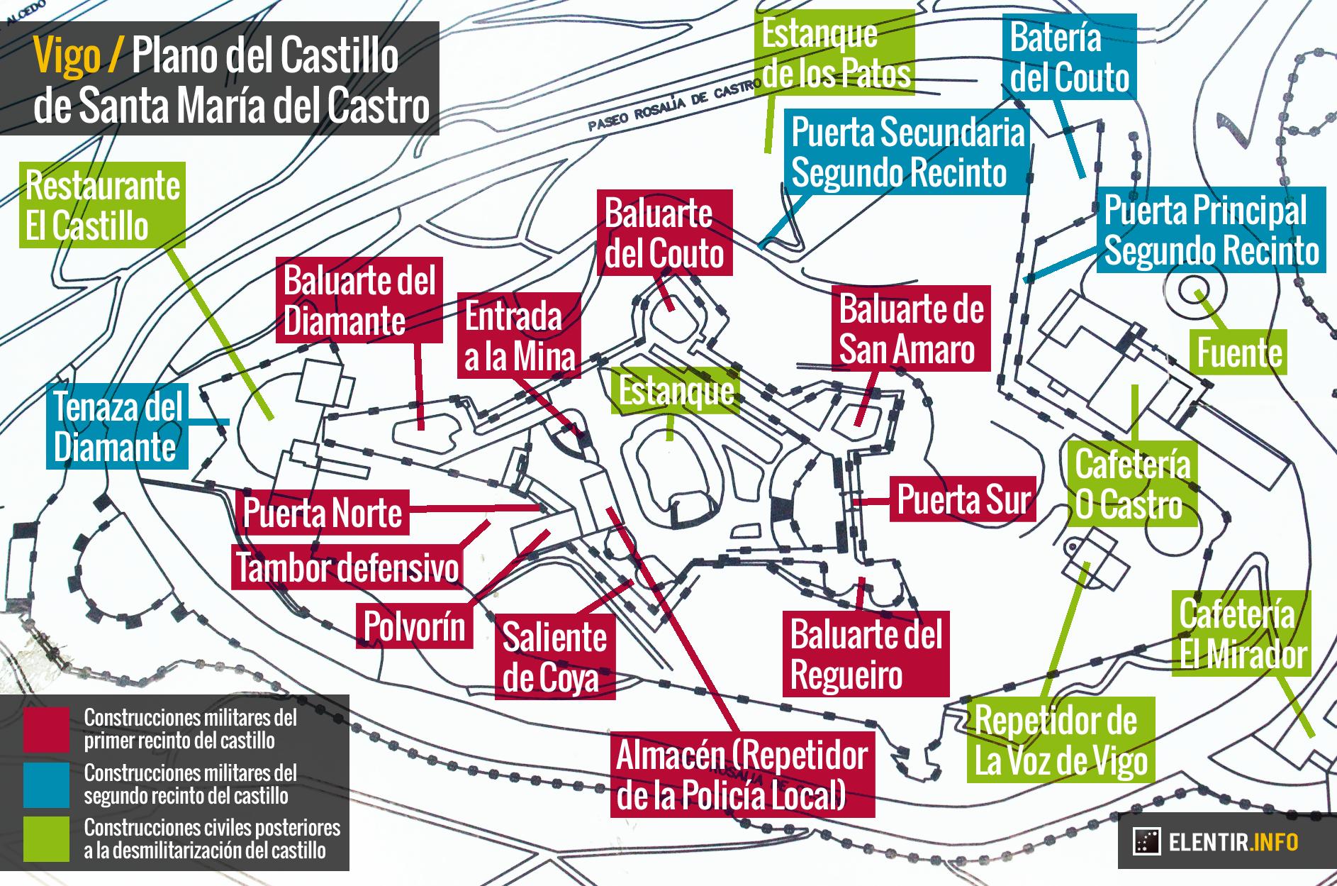 Vigo: el Castillo del Castro, historia e imágenes de un gran desconocido