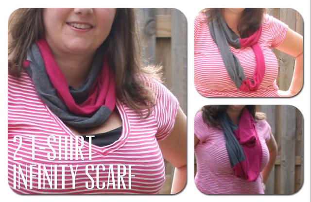 Two tshirt infinity scarf