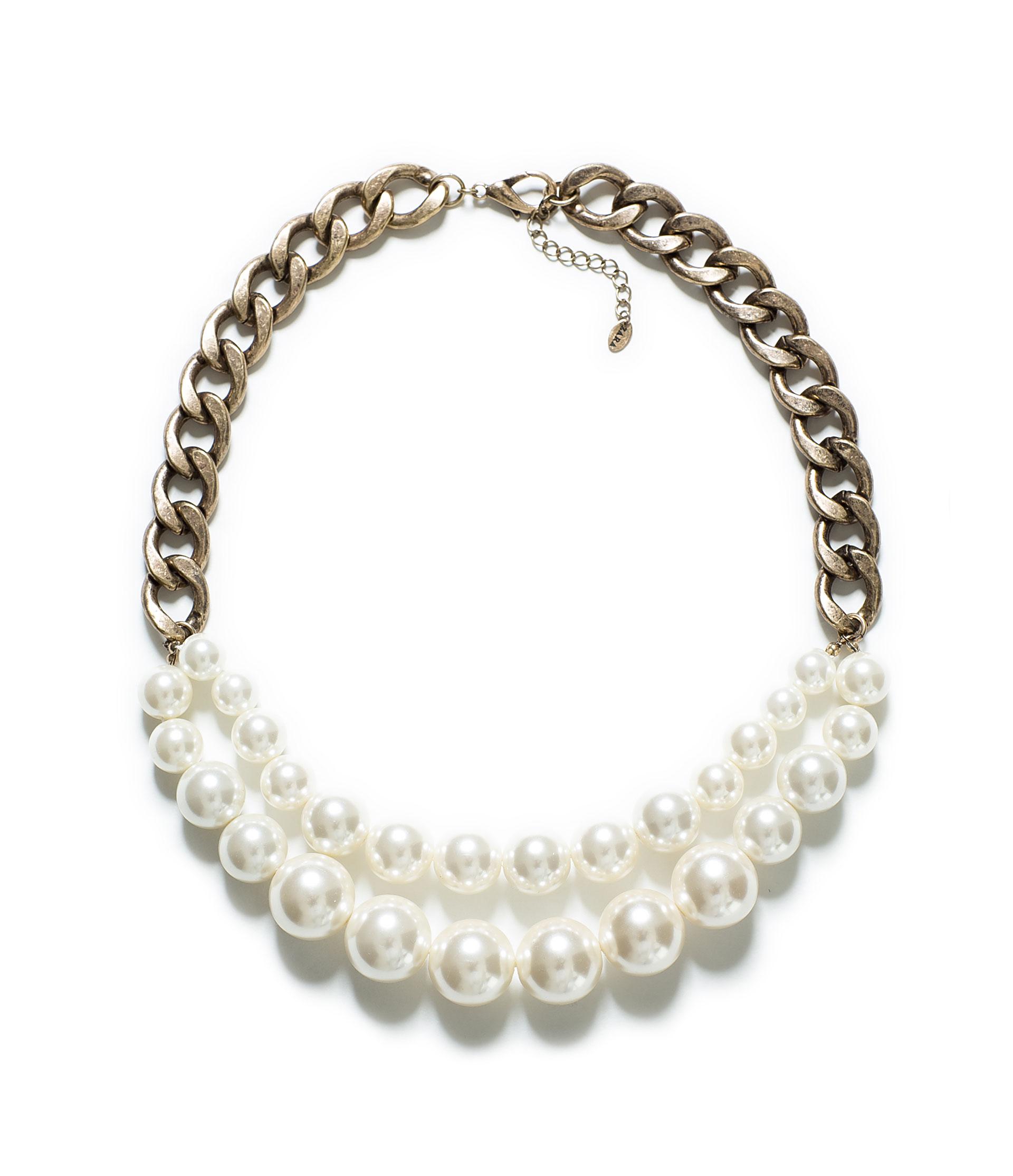 collier perle zara