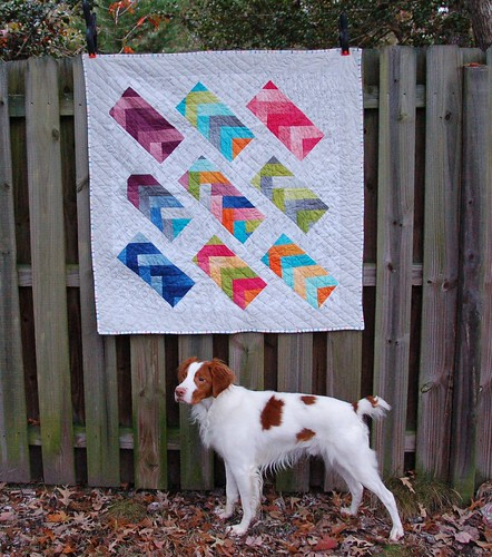 Rainbow Braid Baby Quilt