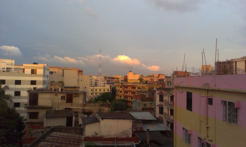city sunset cloud sun building beautiful sunrise dhaka bangladesh