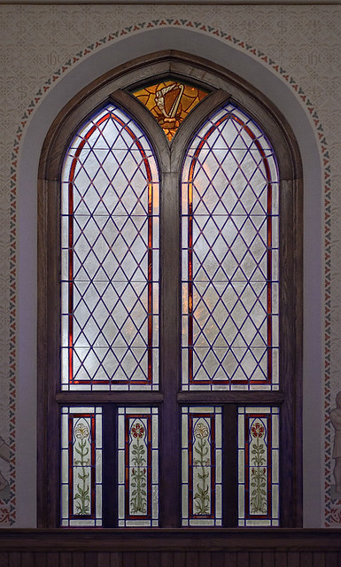 Saint John the Evangelist Roman Catholic Church, in Paducah, Kentucky, USA - window