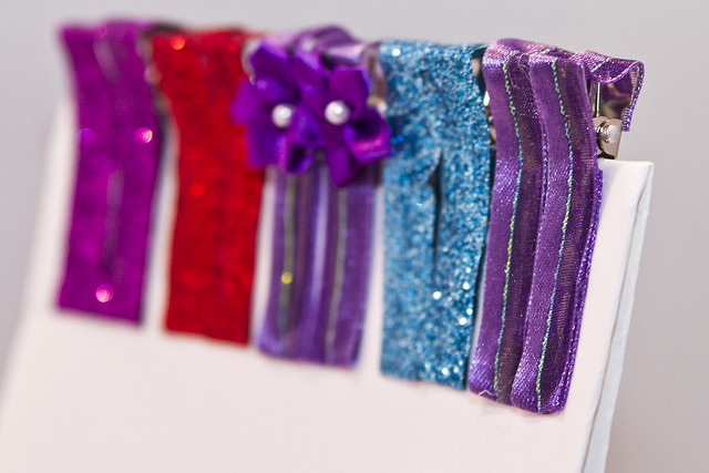 Easy DIY Ribbon Hair Clips