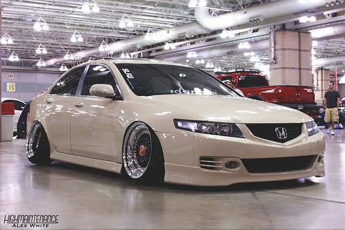 cream honda acura tsx euro accord on bbs wheels
