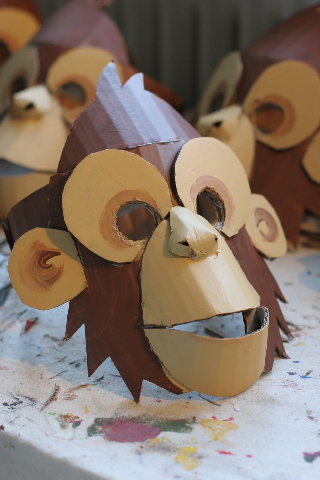Monkey mask, painted