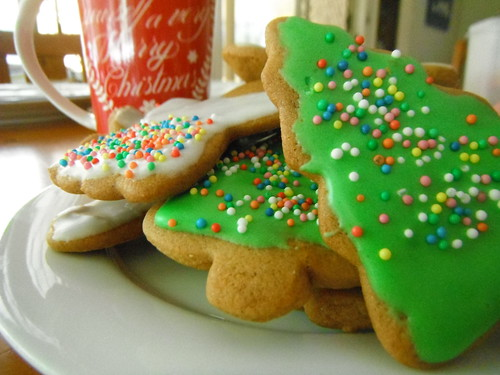Gingerbread trees and angels