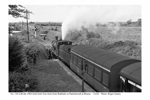 Bruree. No. 130 with railtour for Patrickswell. 7.6.64