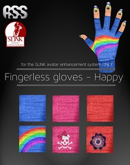 A:S:S - Slink fingerless glove appliers - Happy
