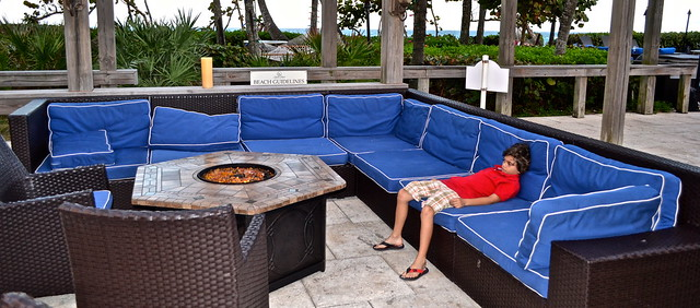 Jupiter Beach Resort, Sinclairs Restaurant - Florida- fireplace