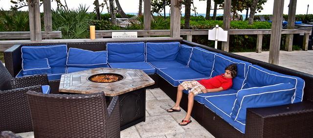 Jupiter Beach Resort, Sinclairs Restaurant - Florida- fireplace