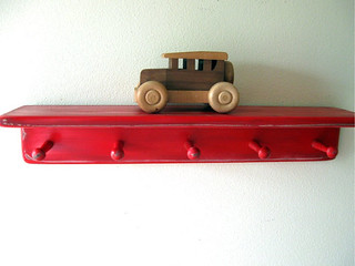 2 foot peg shelf - distressed