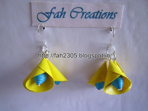 Handmade Jewelry - Paper Cone Bell Earrings (9) by fah2305