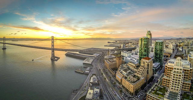 San Francisco At Sunrise