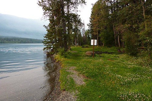 Gwa-da-tsih Campground blanketed by Wildfire Smoke, Ts'yl-os Provincial Park, Chilko Lake, Chilcotin, British Columbia