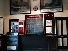 Ticket counter of Haworth station
