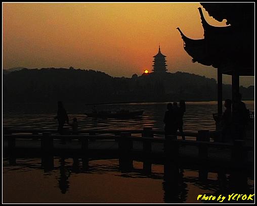 杭州 西湖 (其他景點) - 563 (西湖十景之 柳浪聞鶯 在這裡看 西湖十景的雷峰夕照 (雷峰塔日落景致)