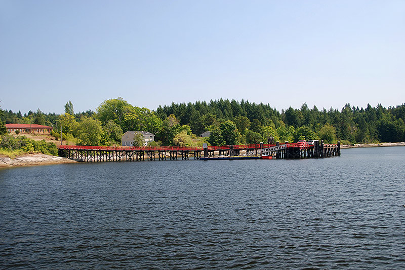 Government Wharf at Penelakut Island (Kuper Island), Gulf Islands, Vancouver Island, British Columbia, Canada