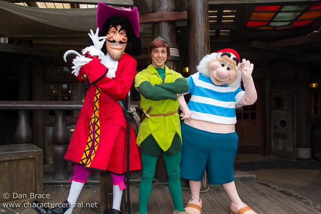 Meeting Peter Pan, Captain Hook and Mr Smee