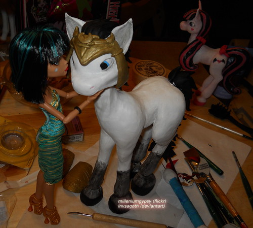 Pony!Loki helmet sculpt progress