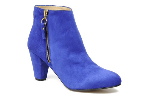 Georgia Rose Venette blue suede ankle boot