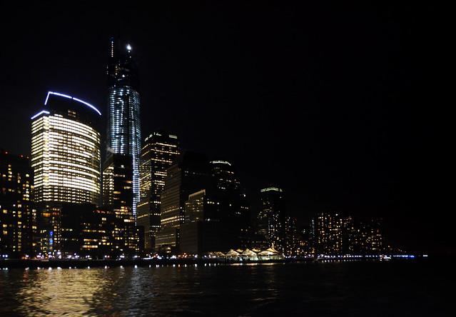 Manhatthan desde el Hudson en la noche