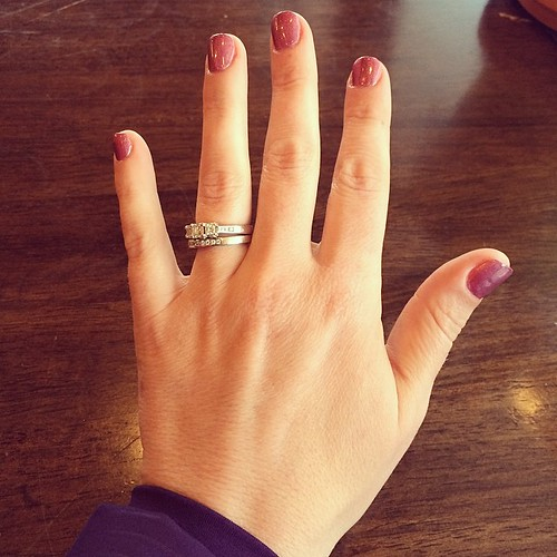 Fake nails (in purple) to address my chewing problem #100happydays
