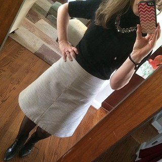 Another #workday that went to hell in a hand basket...but at least I looked cute in my #handmade #gingerskirt. #colettepatterns #sewing #bernina