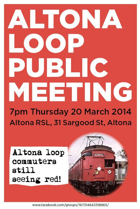 Altona Loop Public Meeting 20Mar2014