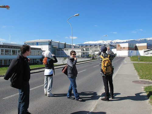 It's a beautiful sunny day at CERN