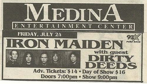 07/24/98 Iron Maiden/ Dirty Deeds @ Medina Entertainment Center, Medina, MN