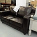 Tempo black two seater sofa