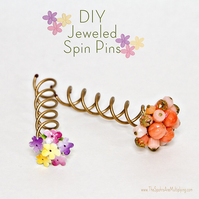 DIY Jeweled Spin Pins