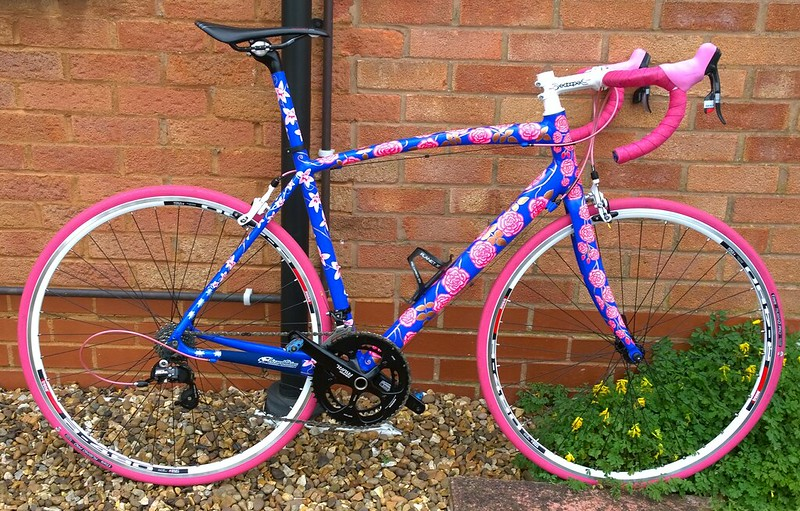 Art bike has new hand built wheels to complete the look properly