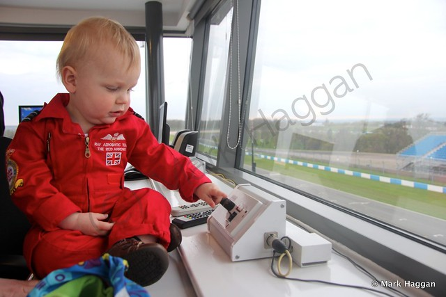 Xander in Race Control at Donington Park