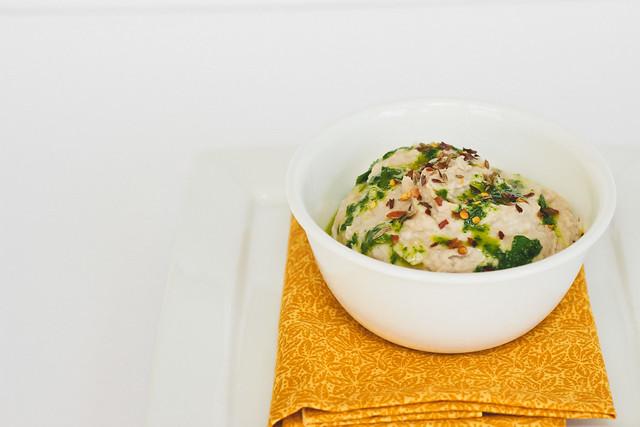 {white bean hummus with citrus-parsley oil} via chevrons & éclairs
