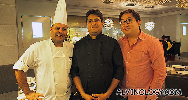 Me with the two chefs at Punjab Grill