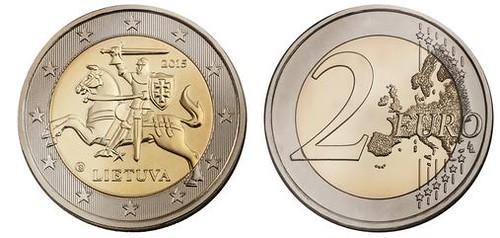 Lithuania 2 Euros 2015