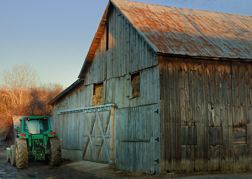 sunset tractor barn