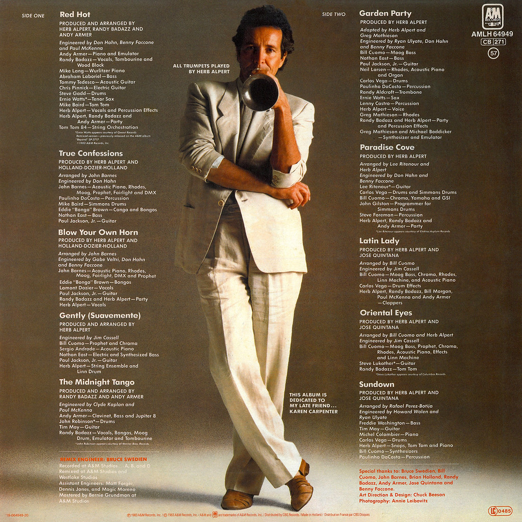 Herb Alpert ‎– Blow Your Own Horn b