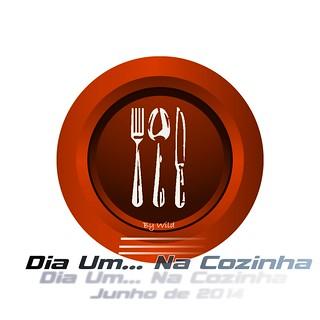 Logotipo Dia Um... Na Cozinha - Junho