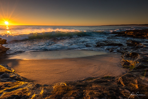 sunset sun beach coast waves australia wa westaustralia kalbarri perthtrip2014