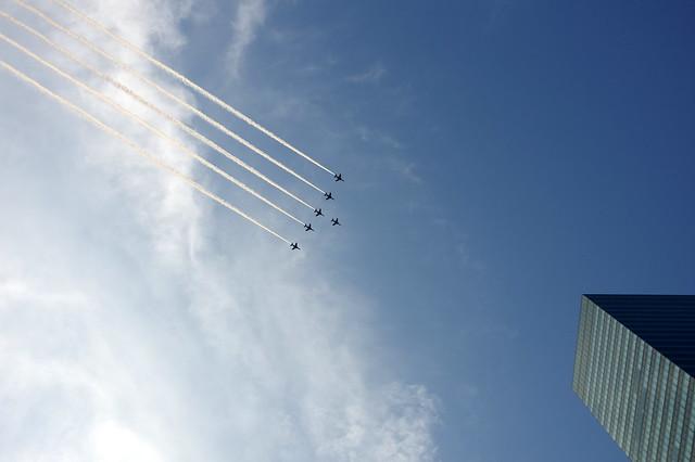 ブルーインパルス展示飛行(SAYONARA国立競技場) @SHIBUYA_015