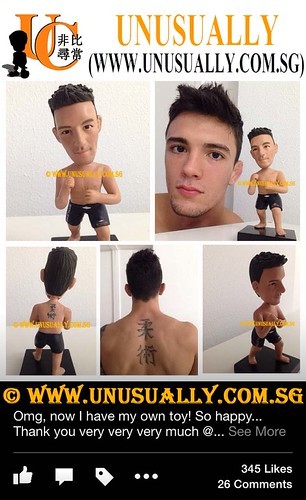 Personalized 3D Fully Customized KongFu Muscle Male Figurine - © www.unusually.com.sg