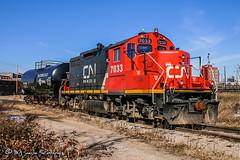 CN 7033 | EMD GP9RM | CN Memphis Subdivision