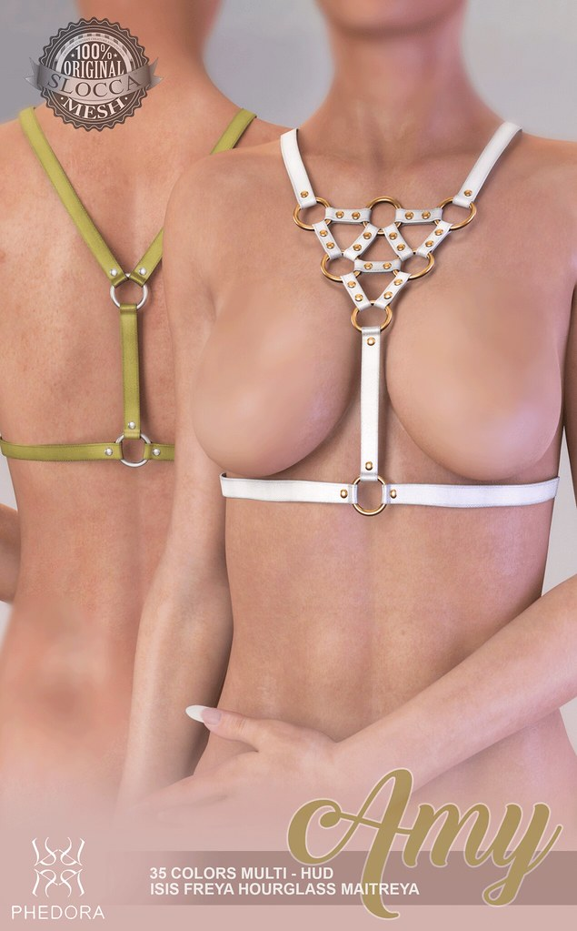 "Phedora. for Mesh Body Addicts - Second Life event- ""Amy"" harness ♥ - SecondLifeHub.com"