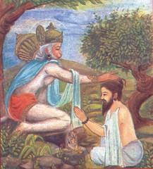Hanuman segnet einen Devotee