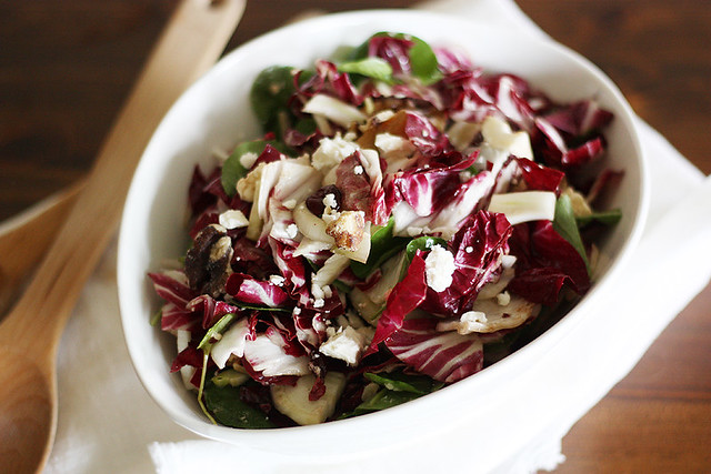 radicchio, watercress + fennel salad
