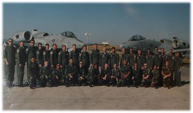 A group photo of the 81st during Operation Allied Force