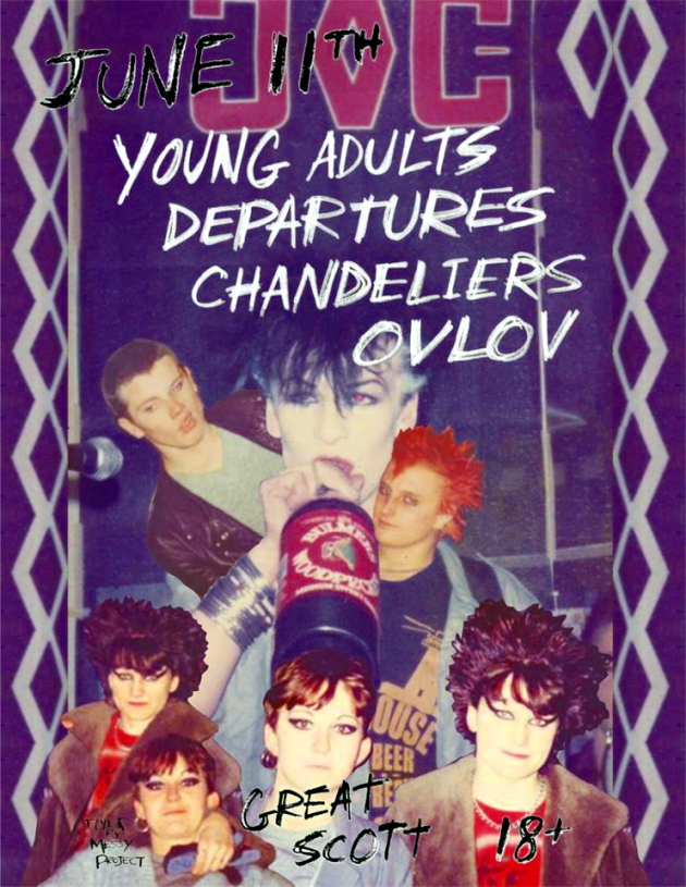 Young Adults, Departures, Chandeliers, Ovlov | Great Scott, Boston | 11 June