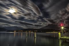 #lucerne #moon #vierwaldstättersee #pilatus